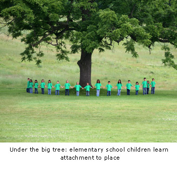 Under the big tree: elementary school children learn attachment to place